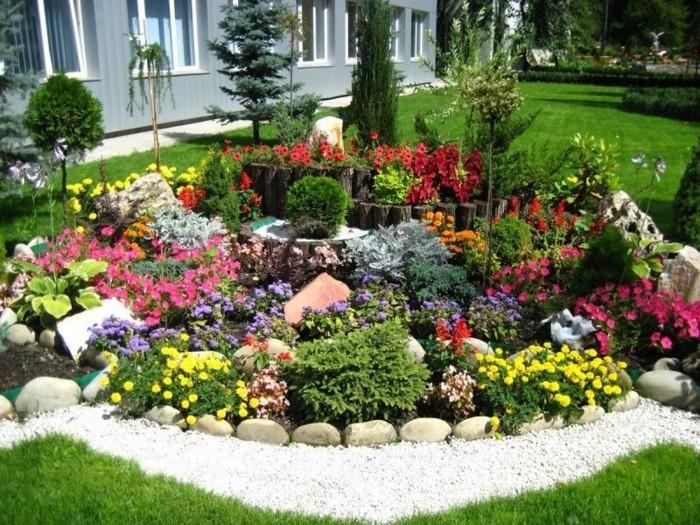 Gartengestaltung Mit Steinen Und Blumen Uadeconline