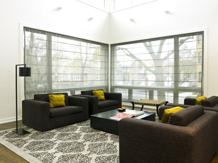 ... Moderne Fensterdeko F R Eine Vornehme Atmosph Re Im Raum Archzine Net  Wohnzimmer Fenster Gestalten Mit Plissee ...