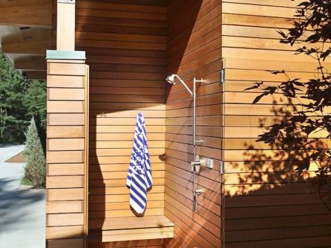 outdoor dusche selber bauen ▷  + ideen und bilder zum thema sichtschutz für