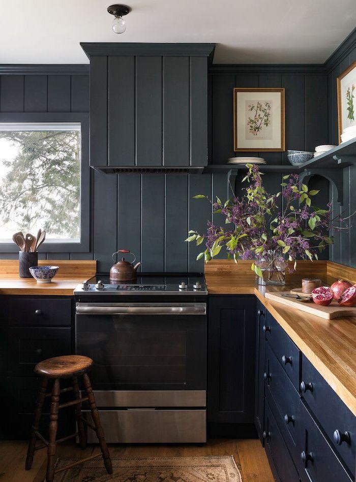 1001+ ideas for Ultra Modern Kitchen Backsplash Ideas on Backsplash Ideas For Dark Cabinets  id=34842
