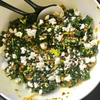 Bulgar Wheat and Lentil Salad with Spicy Kale and Feta