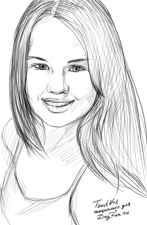 How to draw a portrait of Debby Ryan step by step ARCMELCOM