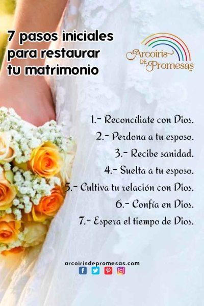 7 pasos iniciales para restaurar tu matrimonio temas de consejeria cristiana