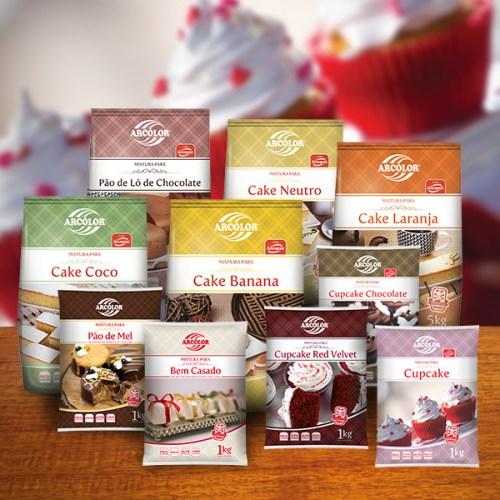 Pré-Misturas para Bolos, Cakes e Cup Cakes