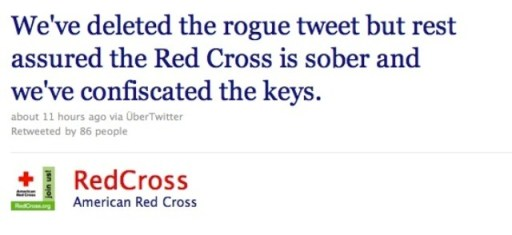Red Cross response to drunk tweet