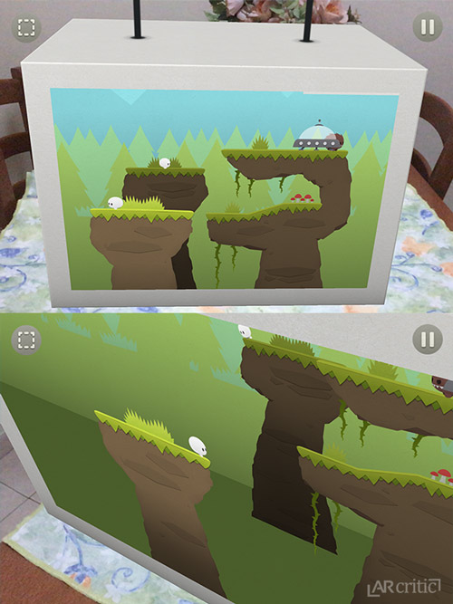 Splitter Critters level view in two different angles