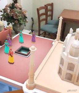PuzzlAR World Tour game screenshot in augmented reality