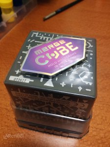 My Merge Cube with the cover on
