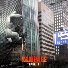 Rampage's George the gorilla hitting a building in AR