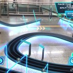 Playing Lightstream Racer AR game in the metro, Seoul