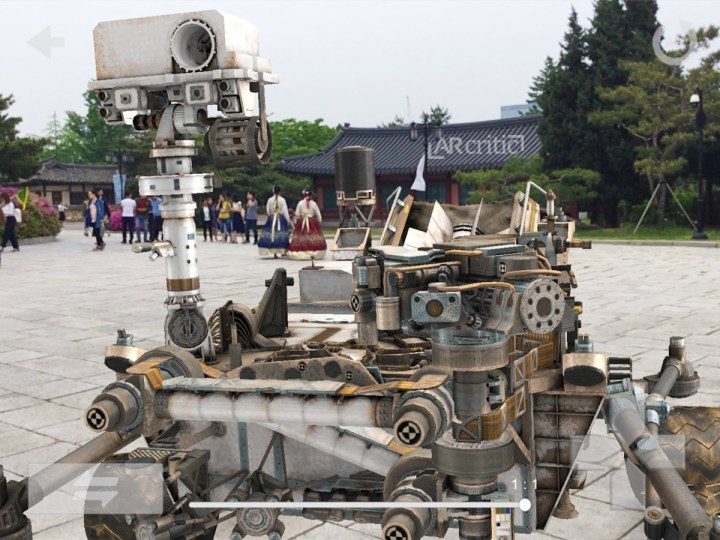 Curiosity Rover in augmented reality