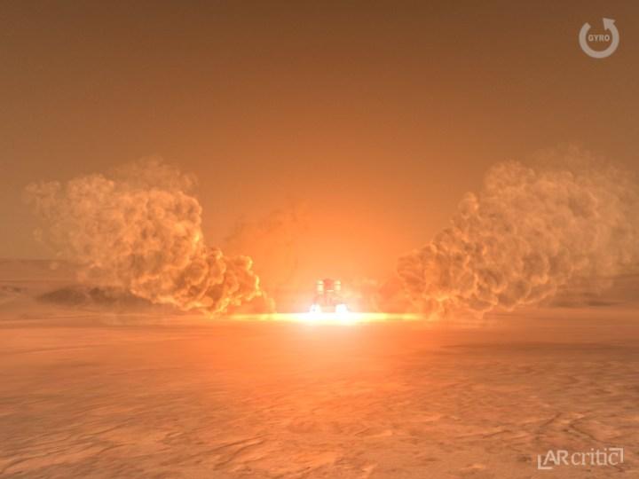 Landing on Mars simulation