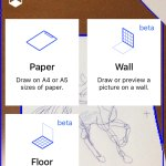 Paper, wall, and floor draw canvas options