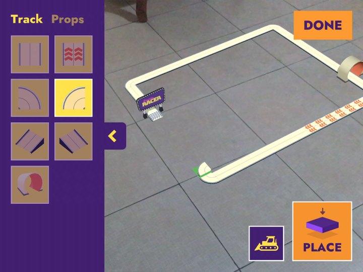 Room Racer AR track builder