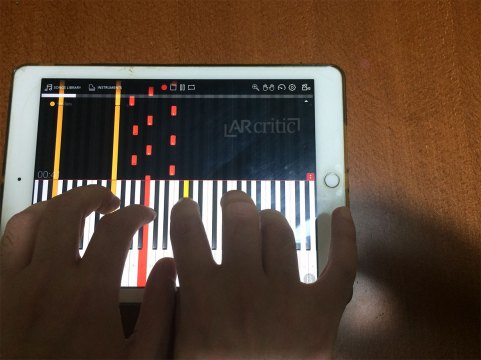 Playing 3D Piano with my own hands