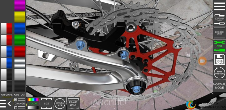 bike cranks 3D in AR