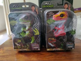 Stealth and Ripsaw Untamed fingerlings in their boxes