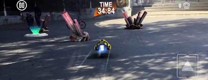 AR arcade racing game