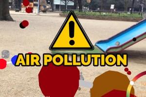 Air Quality Visualization AR App for iOS