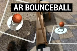AR Ball bouncing game for Android (ARCore)