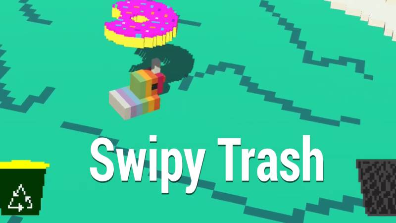 Swipy Trash AR game