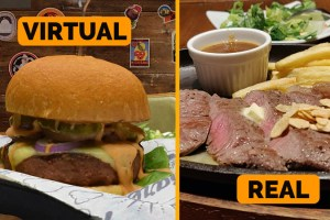 Lifelike 3D Food Restaurant Menu AR App