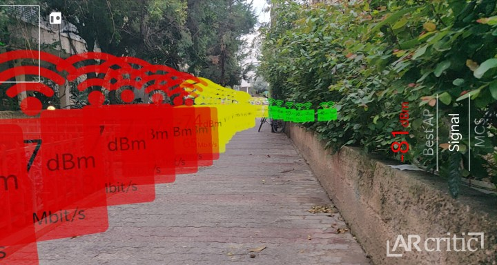 WiFi Signal strength heatmap in augmented reality