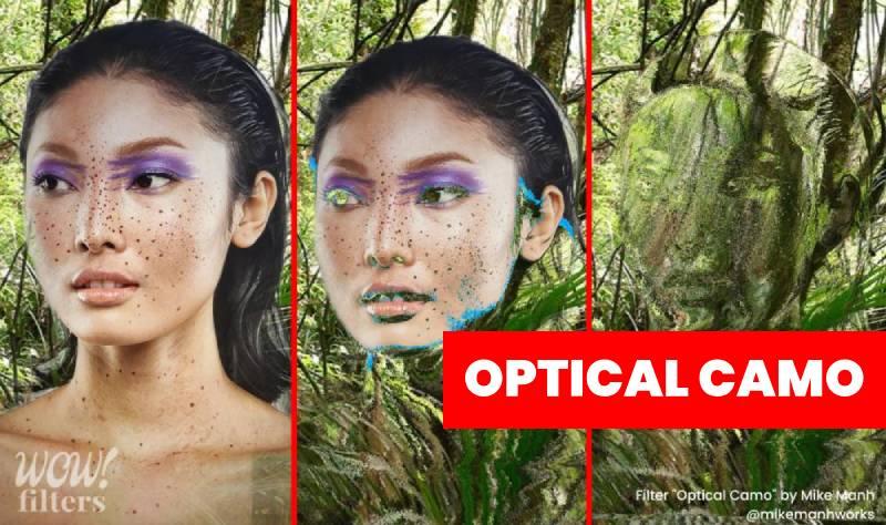 Optical camouflage Instagram filter
