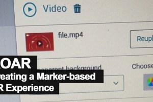 Creating a Marker Video AR Experience using ROAR Web-based Online Platform