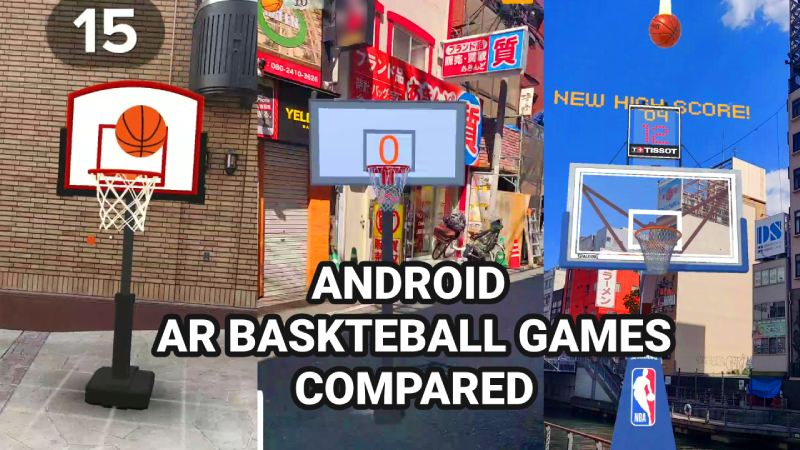 Android AR basketball games