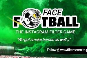 Face Football Instagram filter game