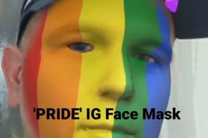 PRIDE – LGBTQ Rainbow Flag Instagram face mask
