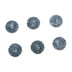 6 Pack Objective Markers Tokens 30mm Set