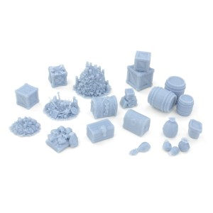 Legends of Loot: 21 Piece Dungeon Crawlers Treasure and Loot Set  28mm – Unpainted