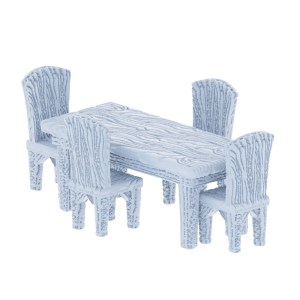 5 Piece Table and Chair Miniature Set