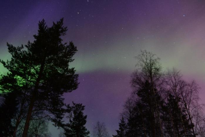 Aurore boréale à Rovaniemi
