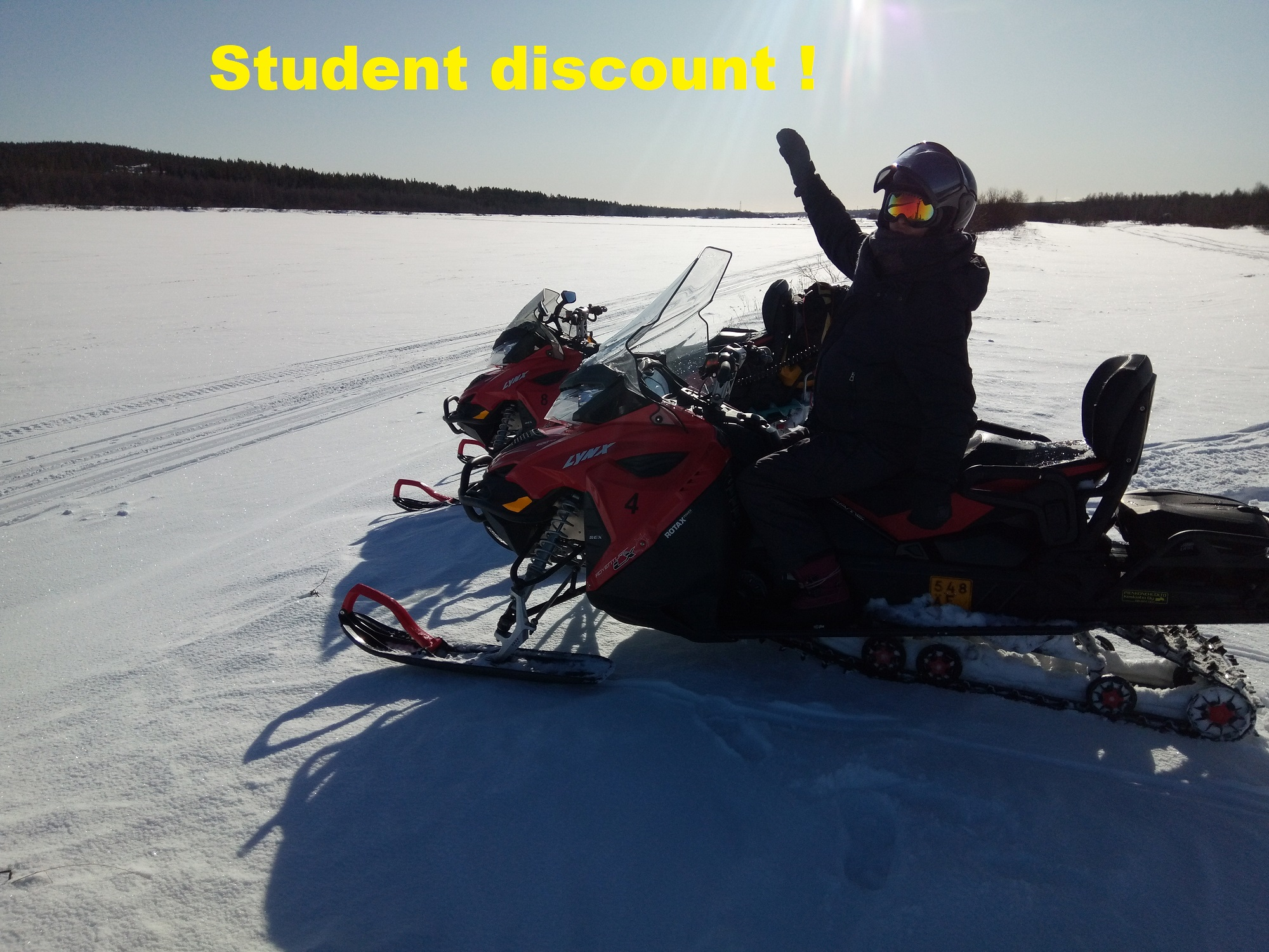 cheap snowmobile safari rovaniemi