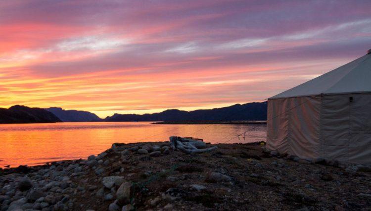 Arctic summer sunset Baffin Island - Arctic Kingdom