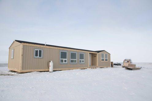 Private polar bear cabin exterior