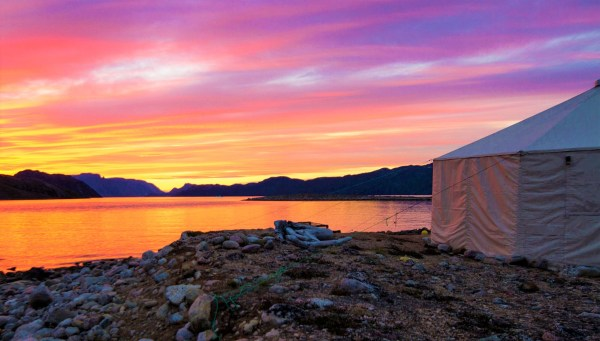 Sunset in Nunavut