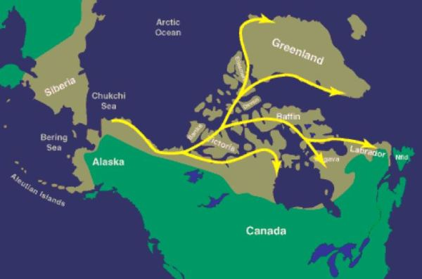 Thule people migration map