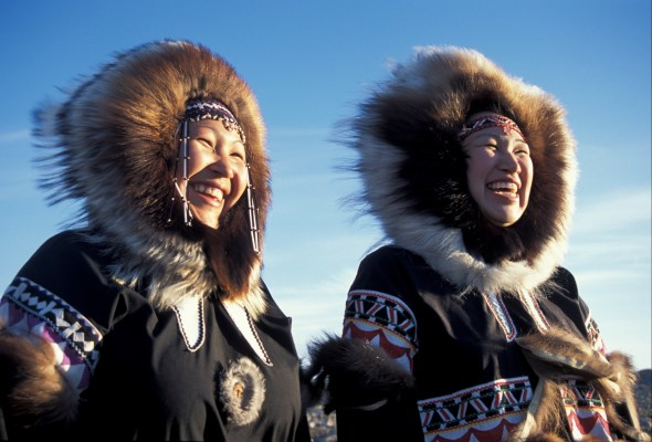 Inuit peoples with parka