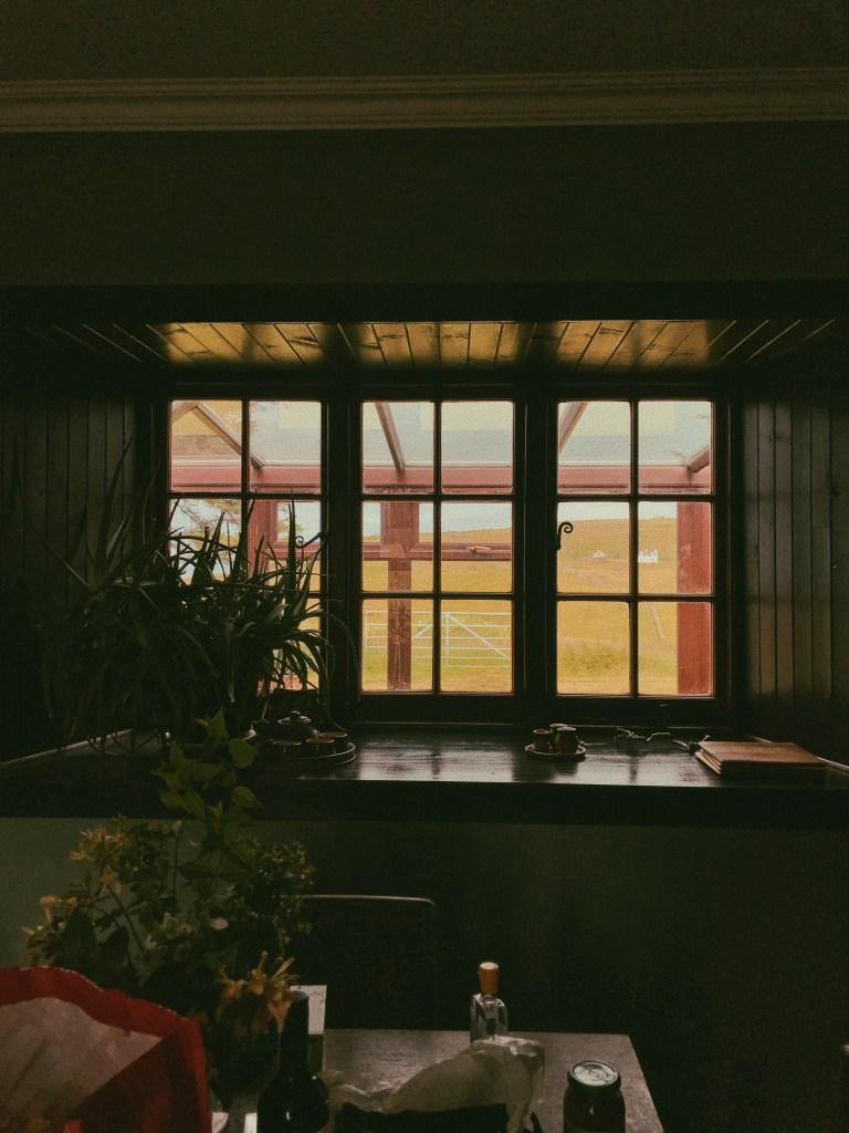 Light streaming in a window