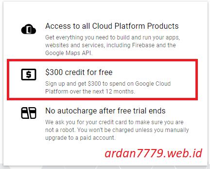 Cara Mendaftar GCP (Google Cloud Platform) Free Credits $300 USD