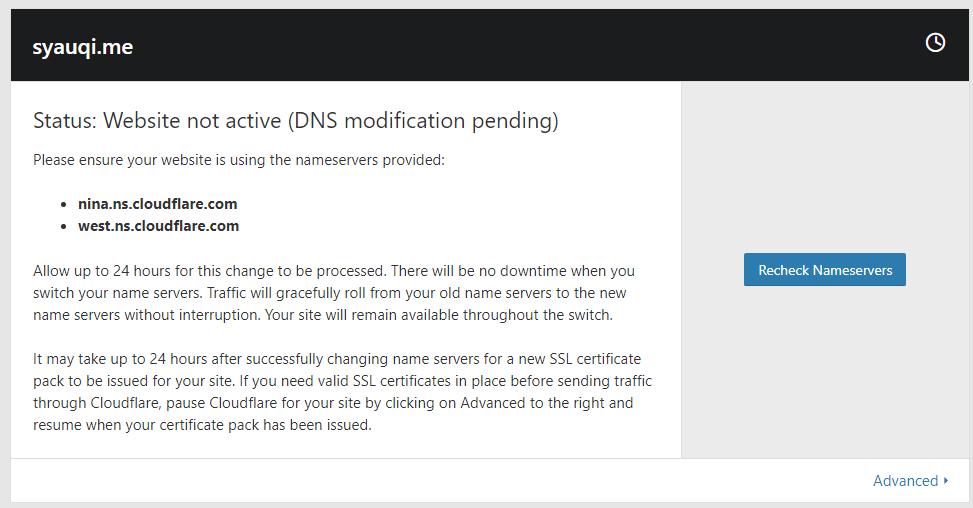 Cara Mudah Setting Name Server dan DNS Cloudflare 9
