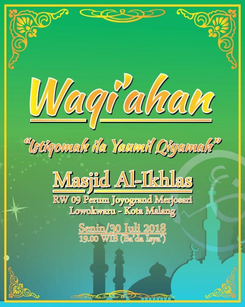 Majelis Waqiah Indonesia Malang - Akhir Juli 2018