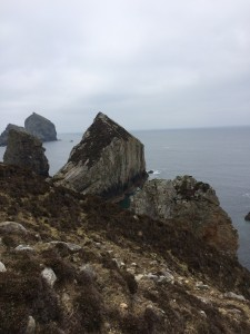 Sea stacks at Slieveatooey