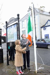 Commemoration 1916, Raising of the Flag