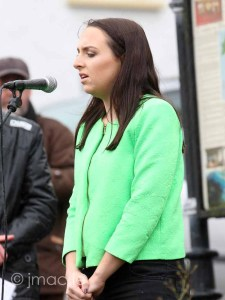 Commemoration 1916, Singing of the National Anthem