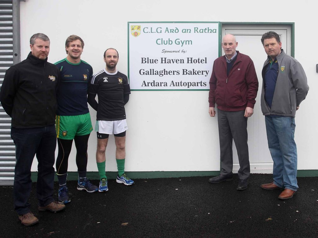 Ardara GAA open new 'strength & conditioning' facility